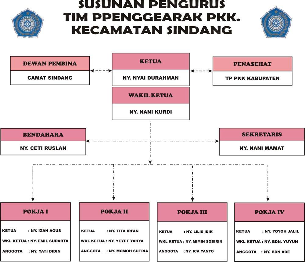 STRUKTUR TP PKK KEC SINDANG